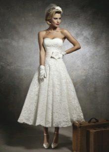 Свадебное платье короткое с длинной юбкой