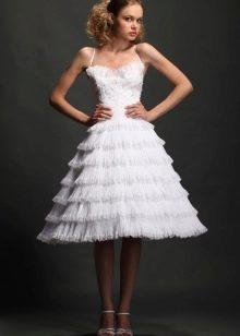 Свадебное платье с юбкой колокол