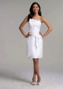 Юбка свадебного платья с рюшами