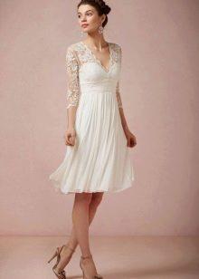 Юбка плиссе короткого свадебного платья