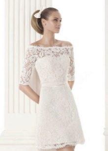 Ажурное короткое свадебное платье