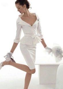 Короткое свадебное платье-рубашка