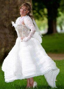 Свадебное платье из воздушных шариков