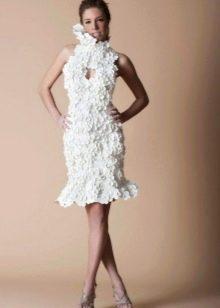 Свадебное платье из бумаги длиной до колена