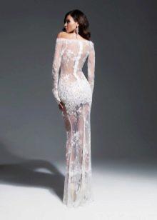 Красивое прозрачное свадебное платье