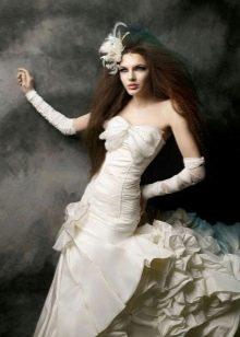 Свадебное платье для девушки с небольшой грудью