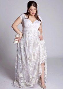 Свадебное платье для полной девушки с пышными бедрами