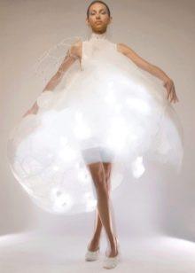 белое свадебное платье со светодтодами