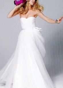 Свадебное платье с лифом драпировкой