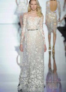 Зухаир Мурад кружевное свадебное платье