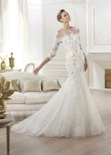 Свадебное платье русалка от Ели Сааб