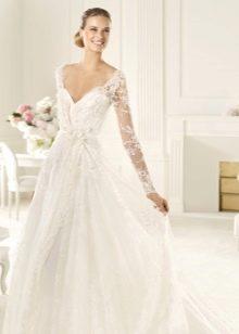 Свадебное платье кружевное от Ели Сааб