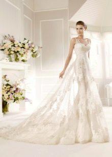 Прозрачное кружевное свадебное платье La Sposa