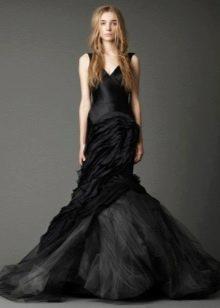 Вера Вонг черное свадебное платье