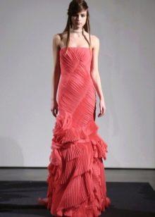Красное свадебное платье от Вонг