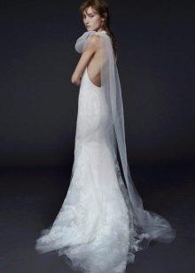 Свадебное платье с открытой спиной от Вонг
