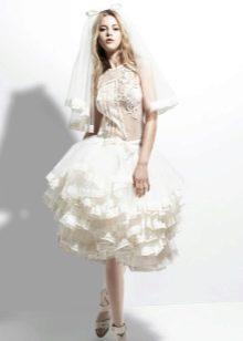 Свадебное платье короткое от Yolan Cris