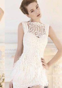 Свадебные короткие наряды из кружева