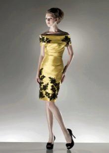 Оливковое свадебное платье с кружевом