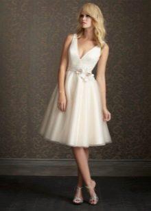 Свадебное платье миди летнее