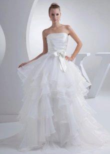 Пышное летнее свадебное платье