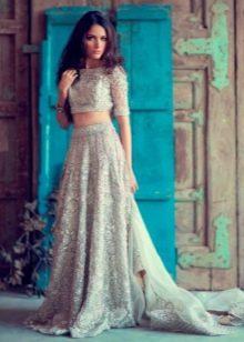Свадебное платье летнее с узором
