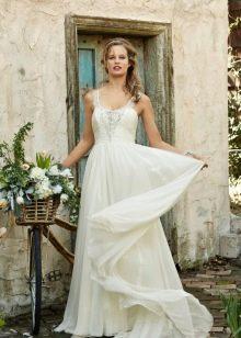 Длинное свадебное летнее платье