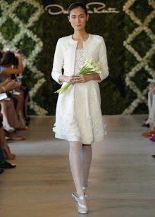 Короткое свадебное платье Oscar de la Renta