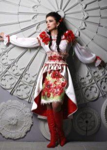 Вышитое свадебное платье
