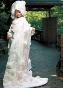 белое свадебное кимоно