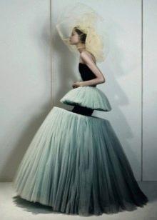 Оригинально свадебное платье илюзия