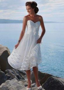 Пляжное свадебное платье из шифона