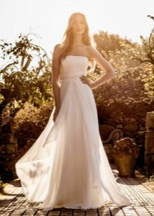 Свадебное пляжное платье из шифона