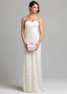 Простое свадебное платье из органзы