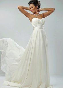 Свадебное платье Ампир кружевное