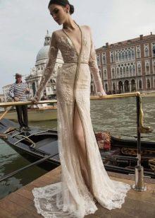 Свадебное платье Inbal Dror бежевое