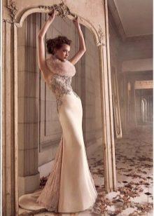 Облегающее свадебное платье Лазаро