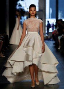 Сексуальное свадебное платье короткое спереди, длинное сзади