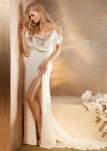 Сексуальное свадебное платье с одним разрезом