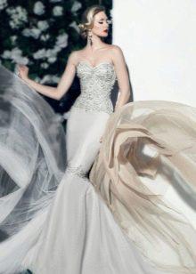 Платье русалка свадебное сексуальное