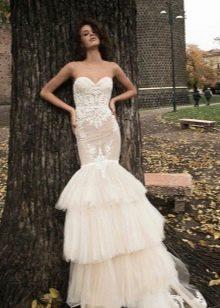 Сексуальное свадебное платье рыбка
