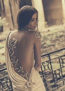 Открытая спина в греческом стиле сексуального свадебного платья