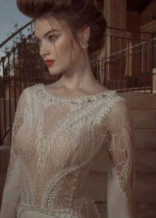 Сексуальное свадебное платье с эффектом обнаженного тела