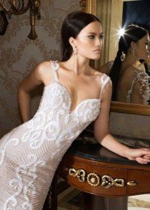 Короткое сексуальное свадебное платье с эффектом голого тела