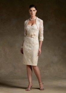 Свадебное платье карандаш длиной до колена