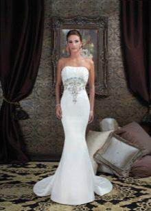 Свадебное платье в пол для невысоких