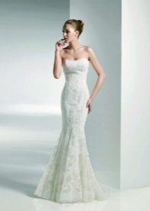 Свадебное платье русалка для невысоких
