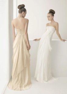 Свадебное платье для невысоких с драпировкой