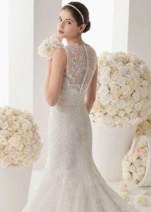Свадебное платье для маленьких или невысоких с пуговицами