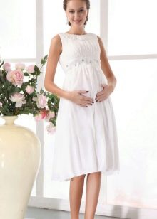 Свадебное платье для невысоких, доходящее до колена